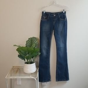 Cello Women's Bootcut Embellished Jean Size 1